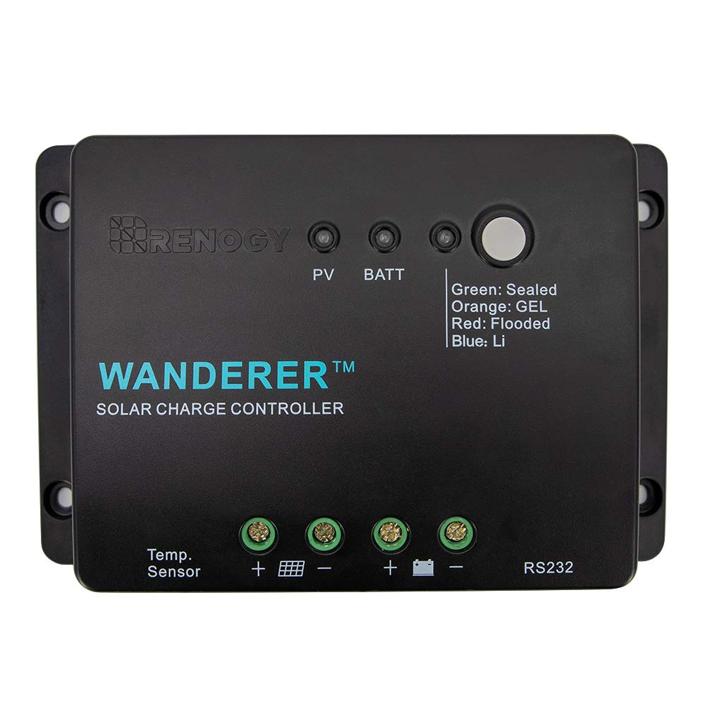 Renogy Voyager - 20A Negative PWM Waterproof Charge Controller w/LCD Display and LED Bar RNG-CTRL-VOY20