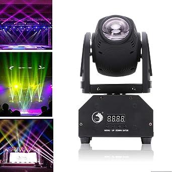 Soirée Fête Club De Scène Bar Disco Dmx512 Commande Vocale Rotative Lampe Rgbw Led Dj Éclairage Automatique Tête Pour Top Lumière Uking 45qARLj3