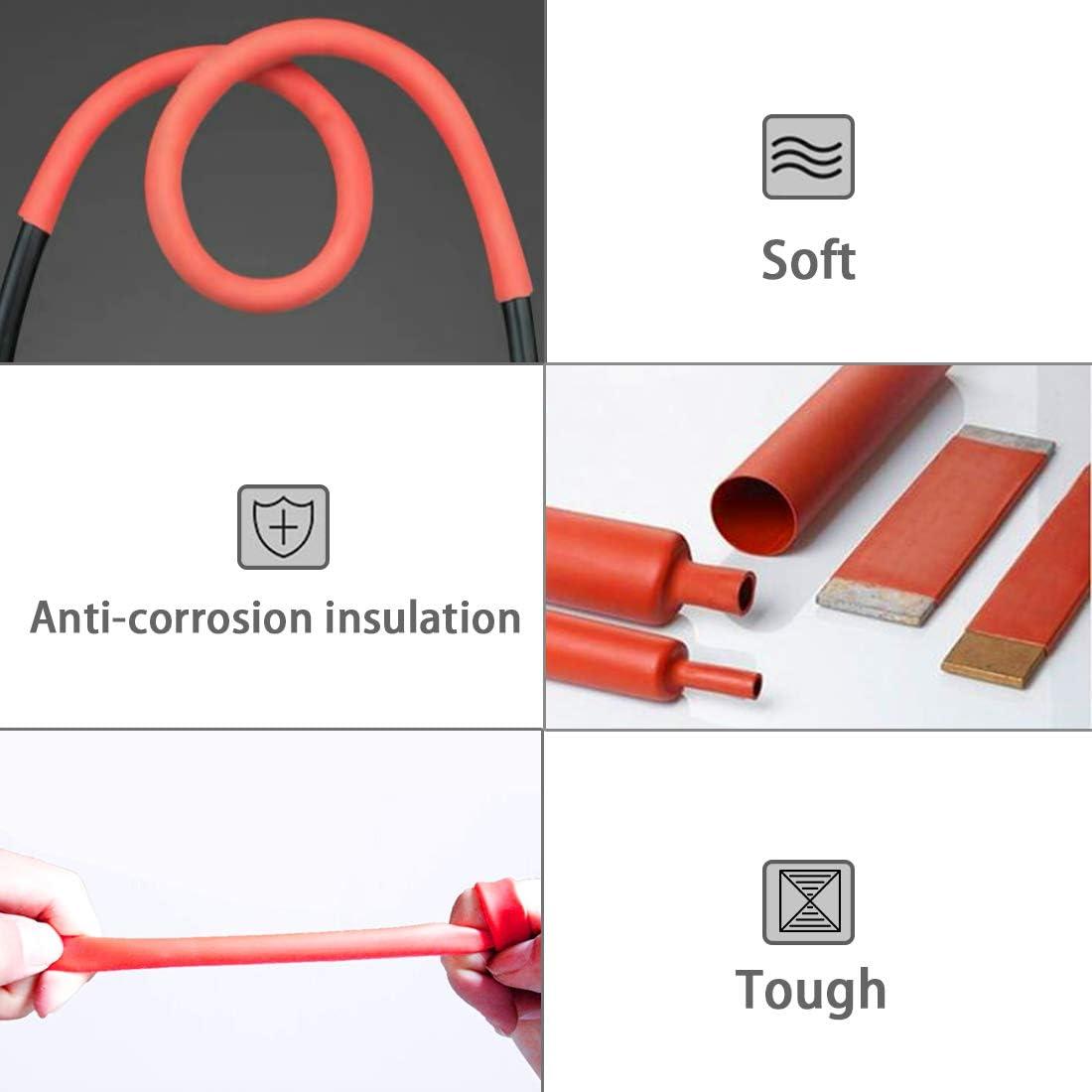 "Dia 1-1//4/"" 30mm Purple-fox 3:1 Heat Shrink Tubing Adhesive-Lined Heat Shrinkable Tube Waterproof Insulation Sealing DIY"