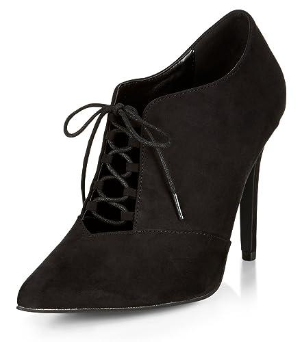 mujeres Top de zapatos de Trends 2015 Negro Punta Ankle Botines Varios colores eine Farbe Talla:8 UK: Amazon.es: Deportes y aire libre