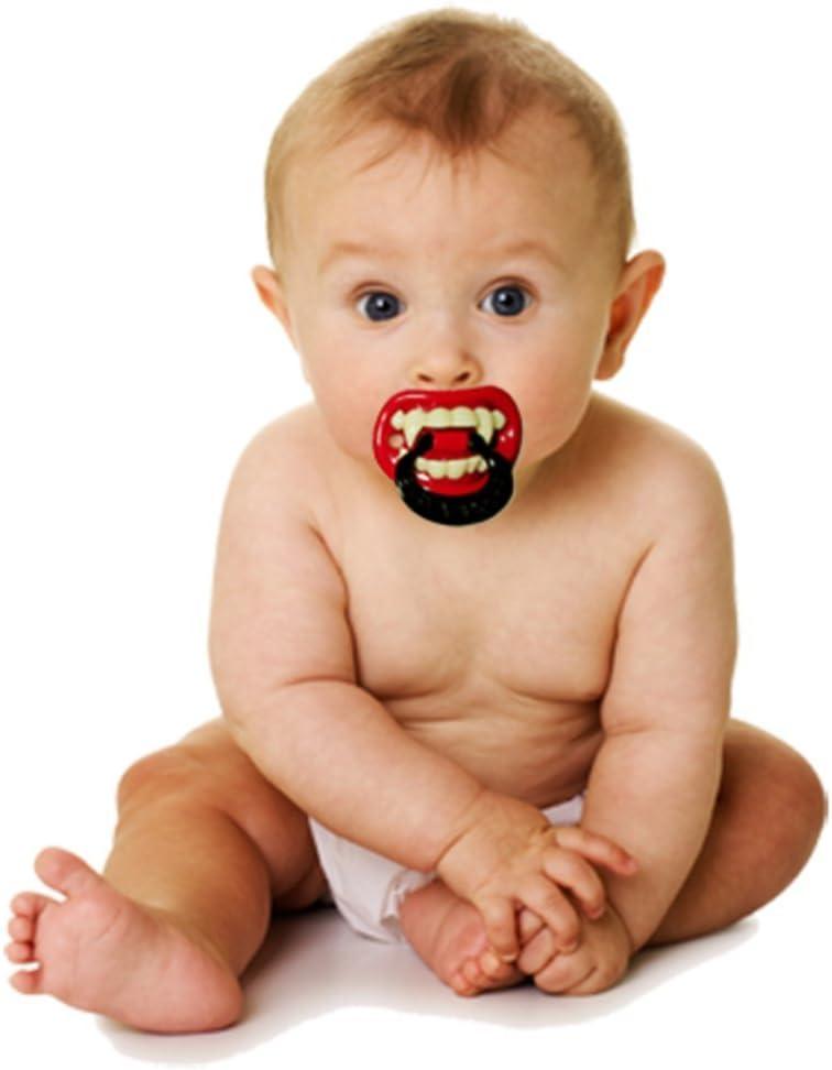 Baby Dummy Toddlers Halloween Vampire Teeth Pacifier Fancy Dress Accessory