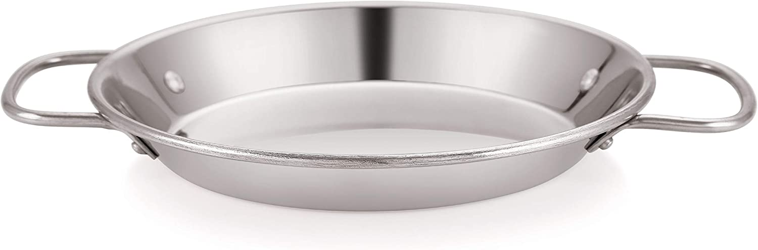 Amazon.com: Chef Direct Paellera Inox - Paellera redonda de ...