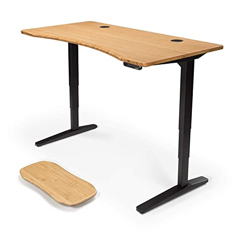 Amazon.com: Uplift Escritorio de pie de bambú con escritorio ...