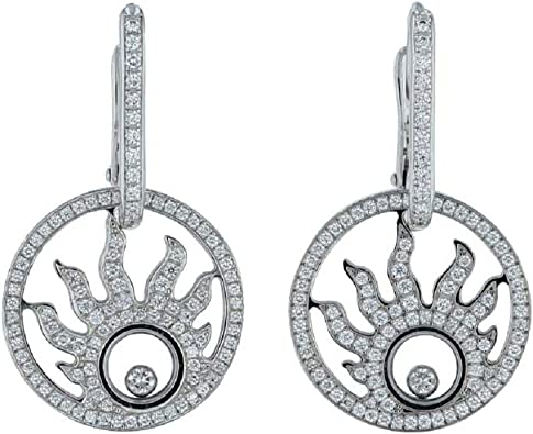 1.00 Ct Round Cut Simulated Diamond Drop /& Dangle Earrings 14K White Gold Over