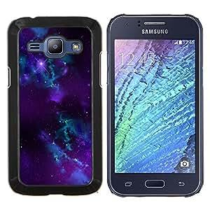 """Be-Star Único Patrón Plástico Duro Fundas Cover Cubre Hard Case Cover Para Samsung Galaxy J1 / J100 ( Purple Galaxy Espacio"""" )"""