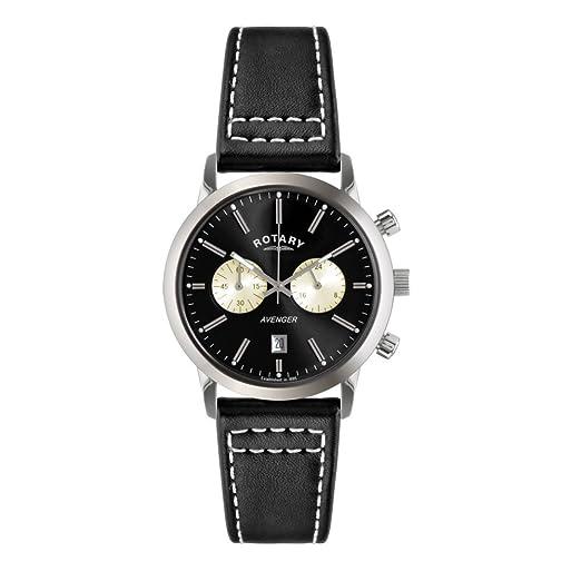 Rotary GS02730/04 - Reloj de Pulsera Hombre, Piel, Color Negro: Rotary: Amazon.es: Relojes