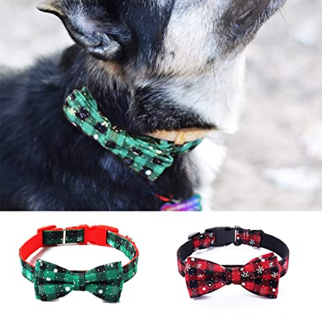 Bangcool Collar de Navidad para Mascota, Ajustable, con corbatín ...