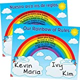 Really Good Stuff Our Rainbow of Rules Poster - English/Spanish