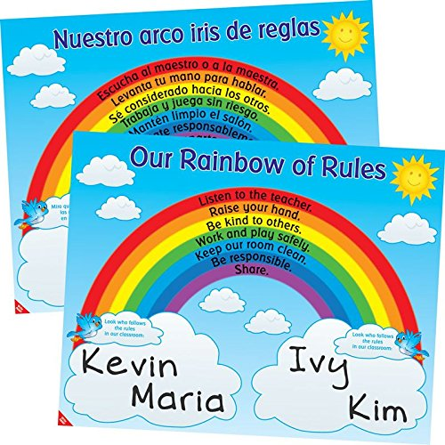 Really Good Stuff Our Rainbow of Rules Poster - English/Spanish by Really Good Stuff (Image #3)