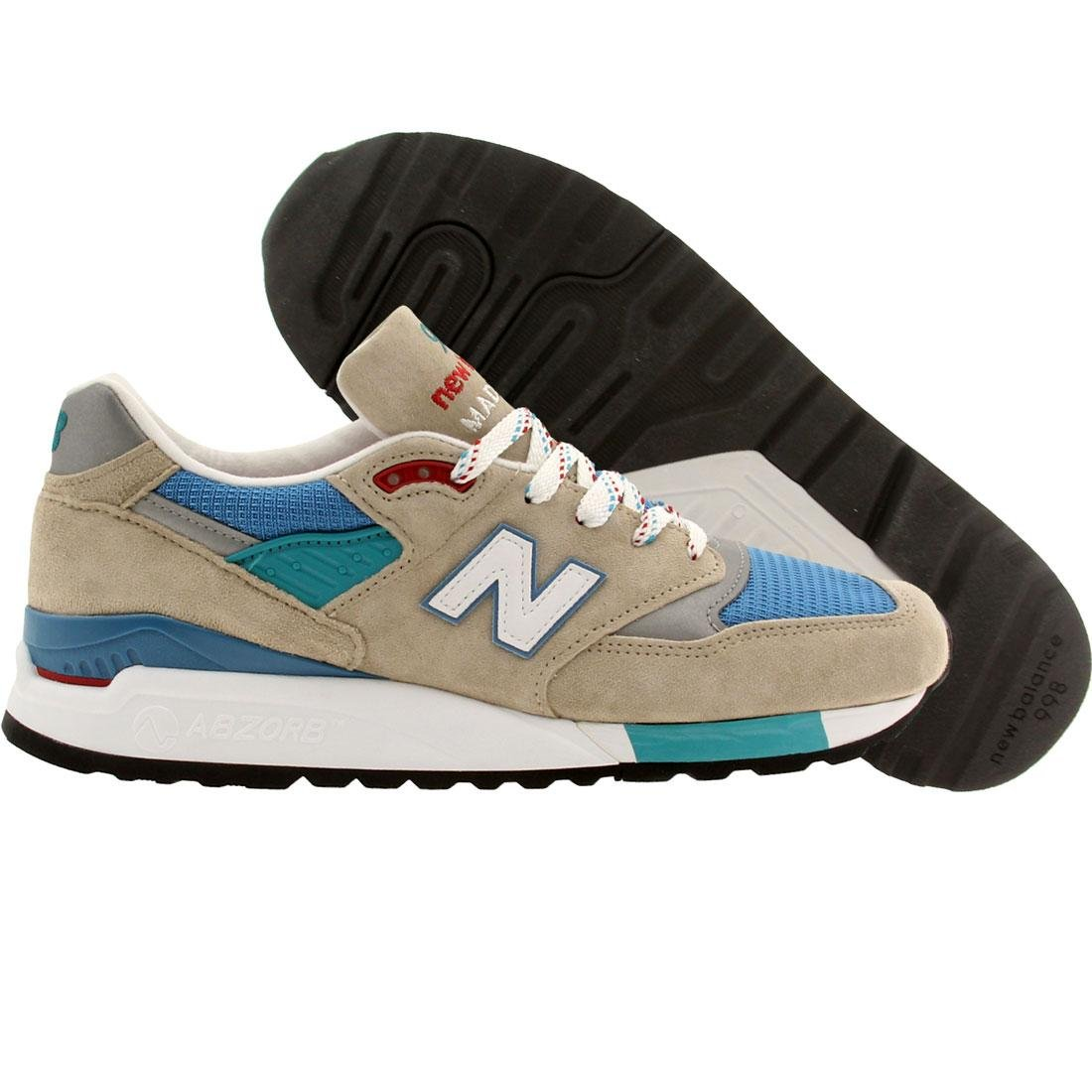 New Balance Men's 998 Classics Sand Blue Surf/Sea Glass Running Shoe 8 Men US by New Balance