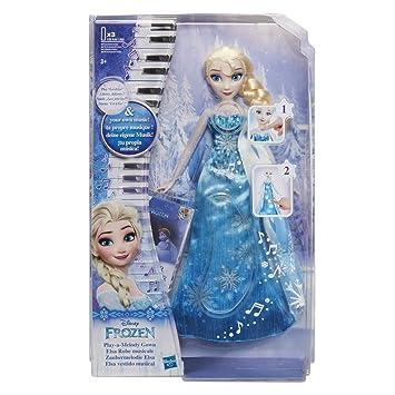 Disney La Reine Des Neiges Poupee Princesse Disney Elsa Robe Musicale Version Française 30 Cm Exclusivité Amazon