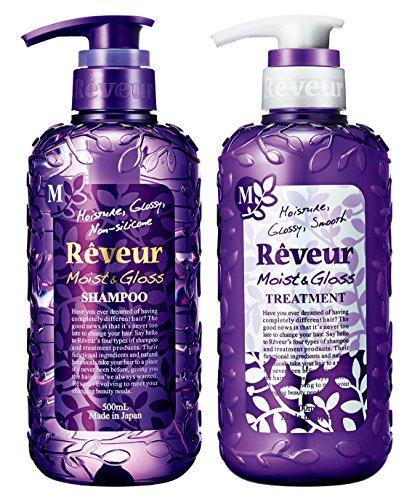 Reveur Non Silicon Moist & Gloss Shampoo & Conditioner 500ml Set