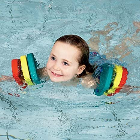 Lelestar Kids Arm Float Discs 6Pcs Swim Float Colorful Discs EVA Armbands Floating Sleeves Buoyancy Circles Rings Kids Children Swimming Armbands Tube Training Tool Equipment For Pool