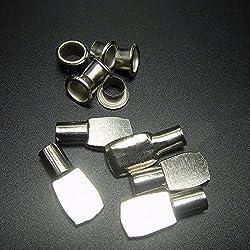 Whale GoGo 40 Pcs 7mm Flat Spoon Shape Shelf Support Peg Cabinet Book Shelf Holder Bracket Pin with Cap