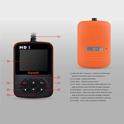iCarSoft HD1 Heavy Duty Commercial Truck Handheld Scanner Tool Code Reader NEW