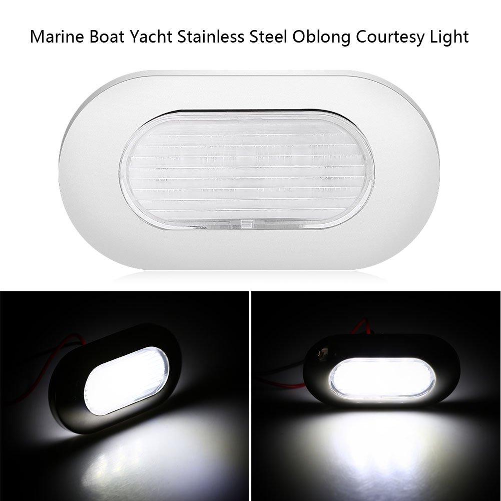 Marine Deck Lights Yacht Lights Stainless Steel Boat Courtesy Lights LED Yacht Interior Lights