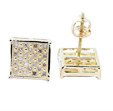 earrings hip high is hop small image loading mens quality shaped itm canary s square gold studs