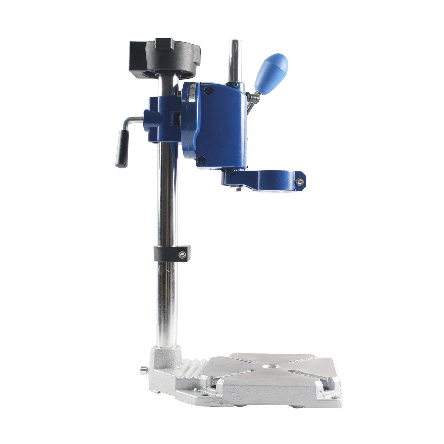 HUBEST New Design Drill Press Drill Holder for Hand Drill Engraving Machine Electrical drill stand Drilling Collet Table 25-43mm, 0-90 degrees