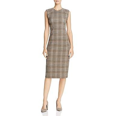 52ef208bb0a Amazon.com: Theory Womens Hadfield Wool Office Wear Wear to Work Dress  Brown 10: Clothing