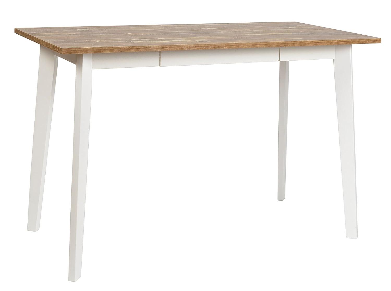 ts-ideen Ess-Tisch Schreibtisch Arbeitstisch Küchentisch Weiß Holz ...