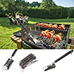 "Grill Brush and Scraper - 8 in 1 BBQ Sets | 18"" Grill Cleaning Brush 360° Stainless Steel Wire Bristles with Shredder Meat Claws 