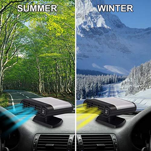 MASO Tragbare Auto-Heizung 12 V 150 W Hochleistungs-Auto-Windschutzscheiben-Heizung schnelle Heizung Entfroster f/ür einfache Schneeentfernung