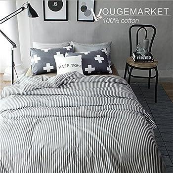 vougemarket 3 piece duvet cover set queenking duvet cover with 2 pillow