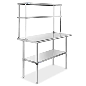 """Double Overshelf For Work /& Cold Table  12/""""x36/"""" NSF"""