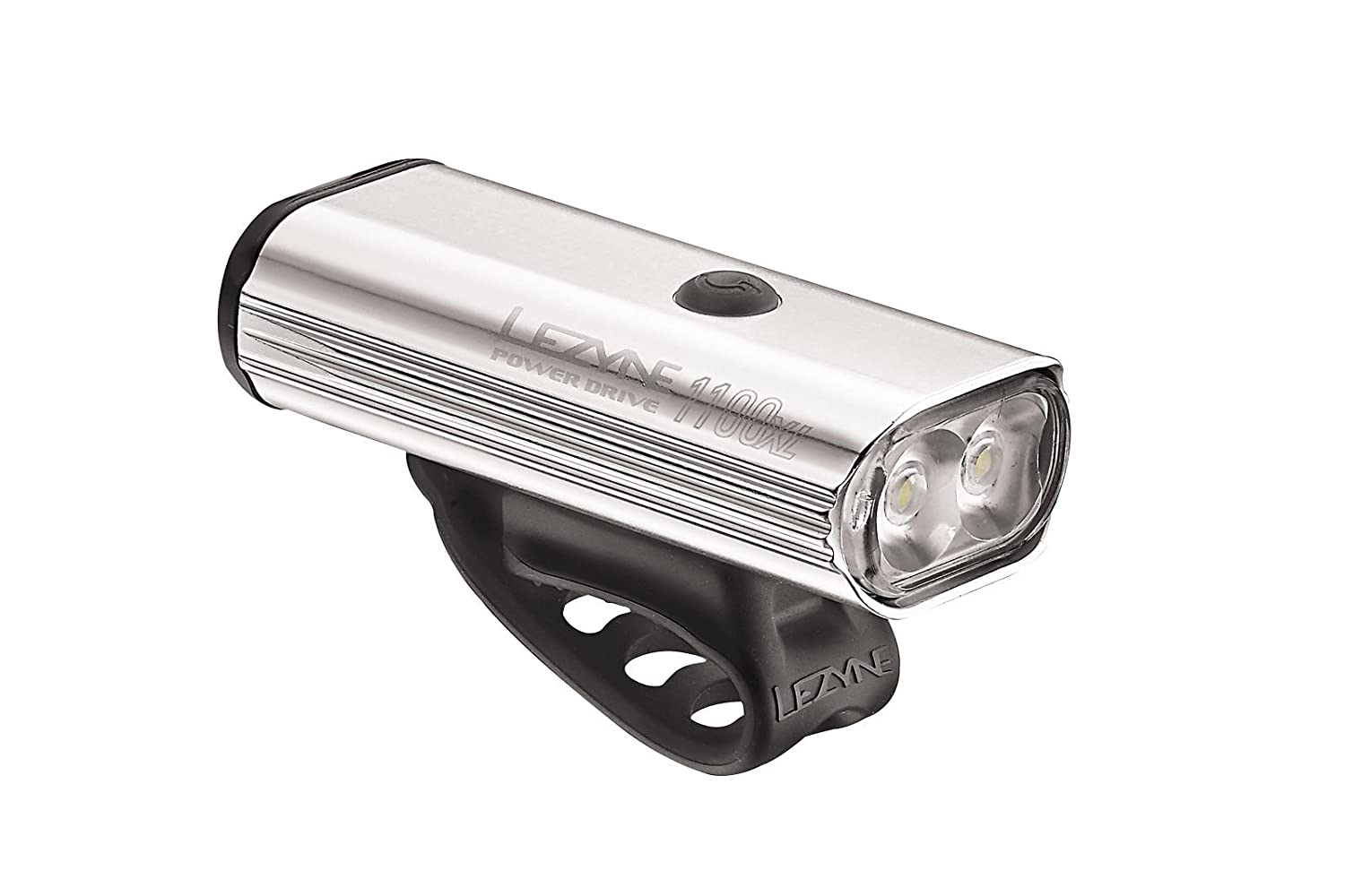LEZYNE Power Drive 1100 Polish Bike Light, Silver Hi Gloss, One Size