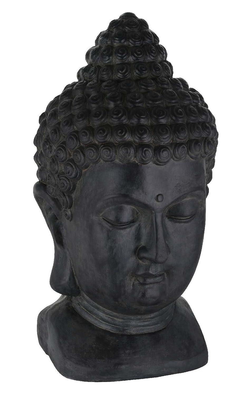 SIDCO Buddha Kopf XXL Dekofigur gro/ßer Buddhakopf Statue Deko Skulptur Feng Shui 49 cm