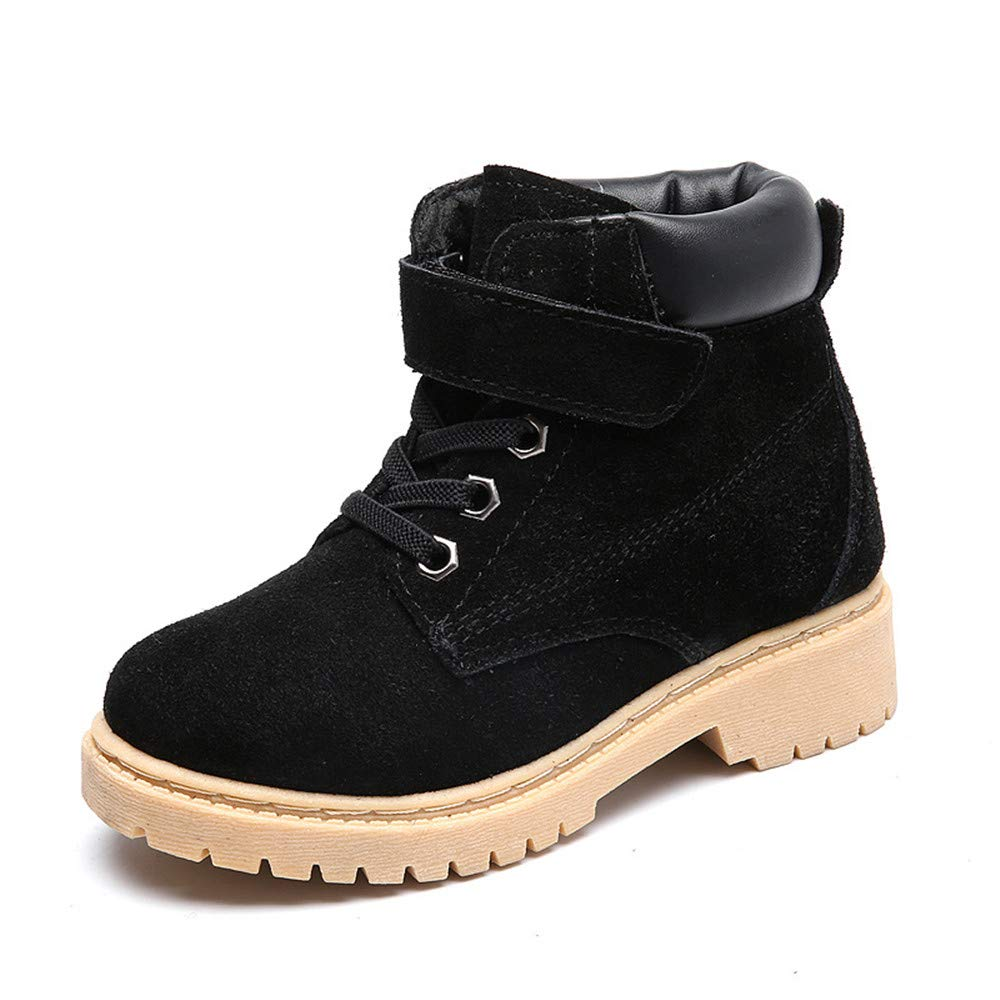 edv0d2v266 Baby Kids Boots Girl Boy Shoes Rain Hiking Winter Snow Booties (Black1 EU 36/4 M US Big Kid)