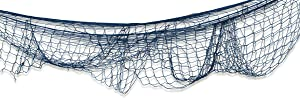 Beistle 12-Pack Fish Netting, 4-Feet by 12-Feet