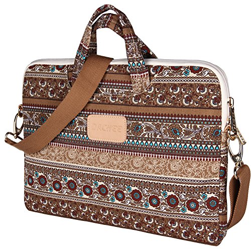 Dachee 2015 Khaki Bohemian Laptop Messenger Bag 15 Inch Laptop Briefcase 15.4 Inch /15.6 Inch for Macbook Pro 15 / Dell/hp/lenovo/sony/toshiba/ausa/acer/samsung Laptop Shoulder - Laptop Inch 15
