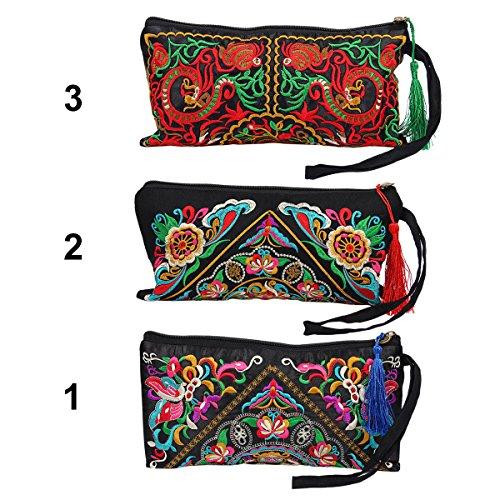 Brodée Pochette Sac à Trucs Main Iris Rétro Yodensity du 2 Bohême Bag Messenger Japon à qI5wT0A