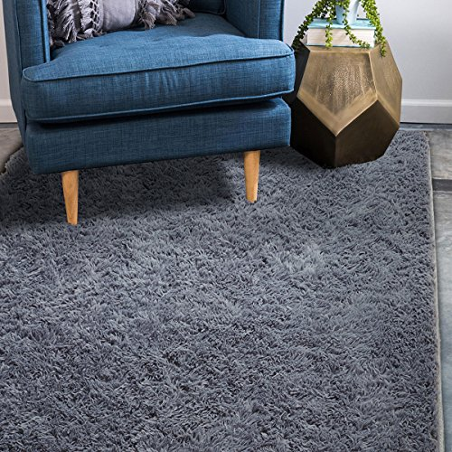 Supmaker Soft Indoor Modern Area Rugs Fluffy Living Room Carpets Suitable for Children Bedroom Decor Nursery Rugs 4 Feet by 5.3 Feet by Supmaker