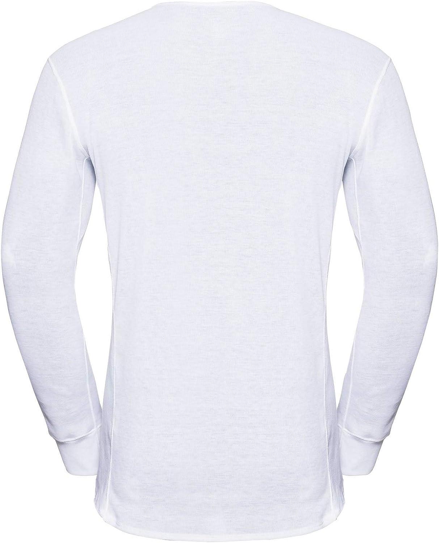 Hombre Odlo L//S V-Neck Camiseta T/érmica