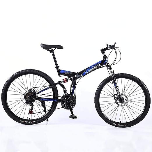 F-JWZS Unisexo Bicicleta de Montaña de Doble Suspensión, 26 ...