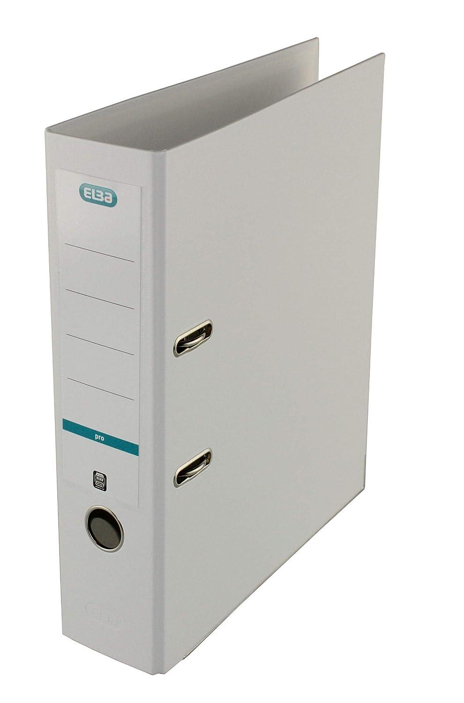 Elba Smart Pro 10456WE - Archivador (A4, 8 cm, etiquetas reemplazables, 10 unidades), color blanco: Amazon.es: Oficina y papelería