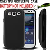 Samsung Galaxy S III - i9300 Extended Battery TPU Case Black and Exclusive Black And Green Color Key Chain Kit