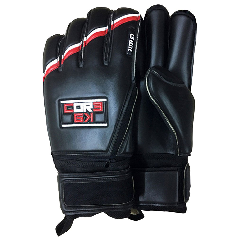 Amazon.com   CS Elite Premium Black Soccer Goalie Gloves Removable  Fingersave Protection Youth Adult Goalkeepers Core Goalkeeping - Available  in Size 9 2936c519d