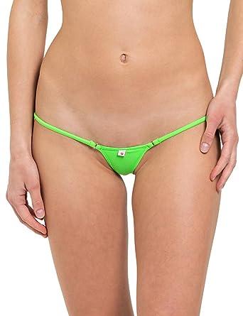 SKINSIX Damen Bikini BWU 110 matt Grün, g-string, S