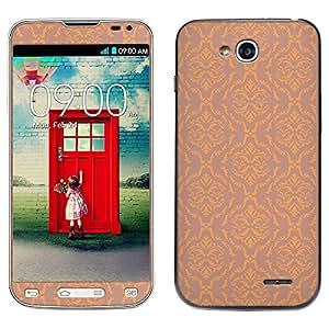 Skin Decal for LG Optimus L90 - Victorian Pattern Peach on Tan