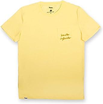 Brava Fabrics | Camiseta Hombre Manga Corta | Camiseta Amarilla Hombre | Camiseta Casual | Camiseta Hipster | 100% Algodón | Modelo Bonito Infinito: Amazon.es: Ropa y accesorios