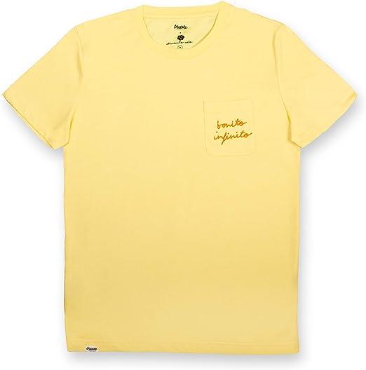 Brava Fabrics   Camiseta Hombre Manga Corta   Camiseta Amarilla ...