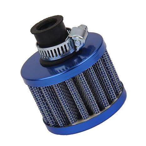 12mm Filtro de Aire Cárter De Ventilación Turbo para Motor de Coche Azul