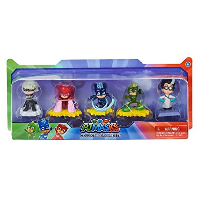 PJ Masks Collectible Figure Set, 5 Figures Including Catboy, Owlette, Gekko, Romeo, and Luna Girl: Toys & Games