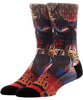 a5cb7c19d My Hero Academia Cosplay Men's Crew Socks 3D Wings , Red, Blue ...