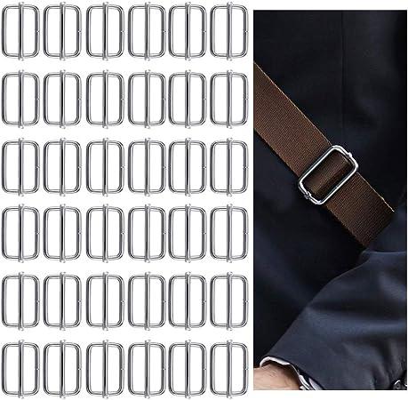 40 Pièces DIY Métal Glissière Boucle Connecteur pour Sac Sangle Artisanat
