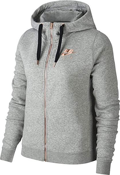 shop factory authentic special sales Nike W NSW Rally Hoodie Fz Air, Pull Femme, Gris (DK Grey ...