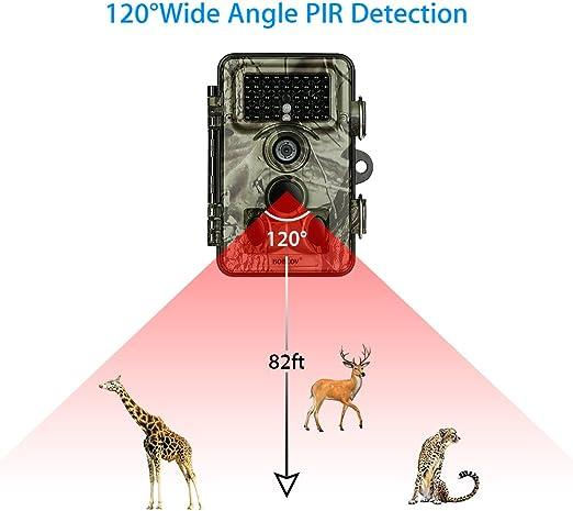 BOBLOV Camera Chasse 16MP 1080P HD Cam/éra de Chasse 940nm Infrarouge /Étanche IP66 120/°PIR Grand Angle de Vision Nocturne Livr/é Une Carte M/émoire Micro SD DE 8 Go Lecteur de Carte